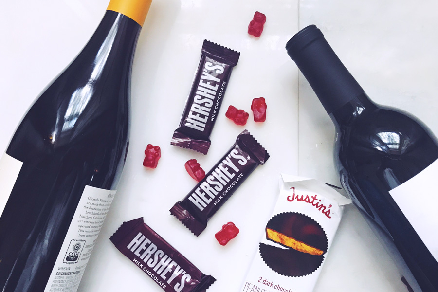 Halloween candy and wine pairings from a sommelier for steal-candy-from-the-kids week.