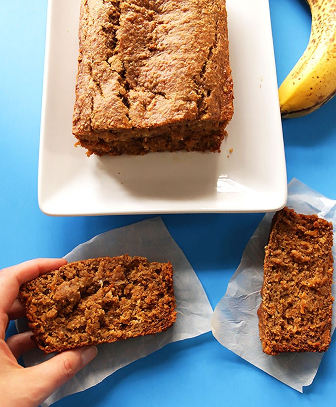 Superfood recipes for kids: Banana Sweet Potato Bread is made with sweet potato and oat flour instead of all-purpose (which makes them gluten-free too!) | Robust Recipes