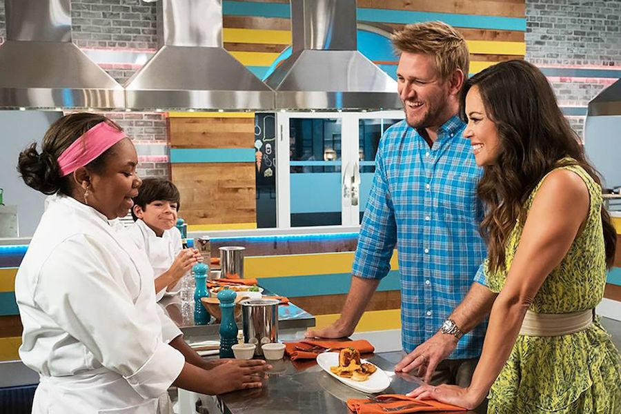 Top Chef Jr. is here, with tips for getting kids off of the couch and into the kitchen too.