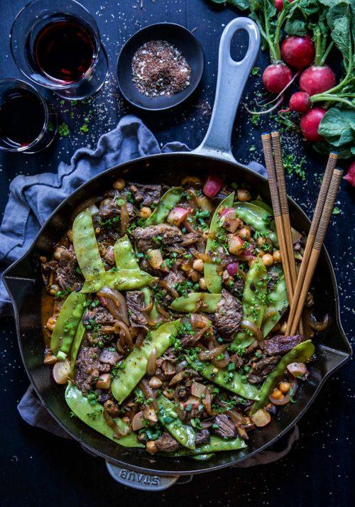 Cool Mom Eats weekly meal plan: Za'atar Short Rib Stir Fry at Climbing Grier Mountain