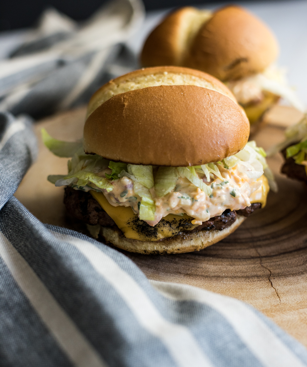 Cool Mom Eats weekly meal plan: Pimento Cheese Burgers at Cooking and Beer