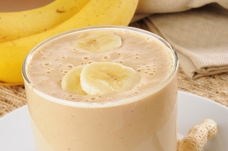 Best post-workout foods | Peanut Butter Banana Smoothie at Skinny Ms.