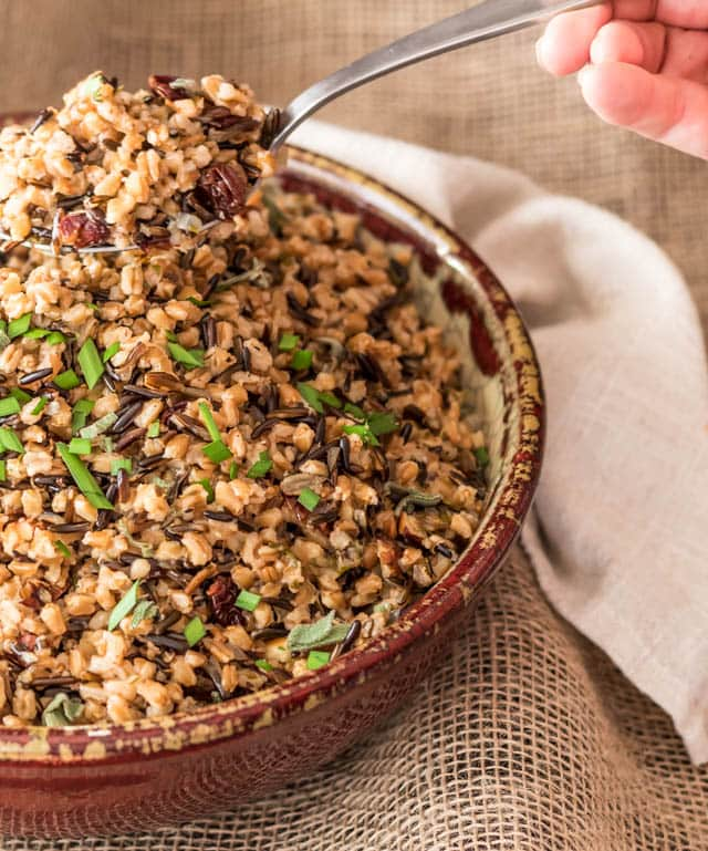 Thanksgiving recipes you can make in your Instant Pot! Pressure Cooker Wild Rice and Faro Pilaf | Pressure Cooking Today