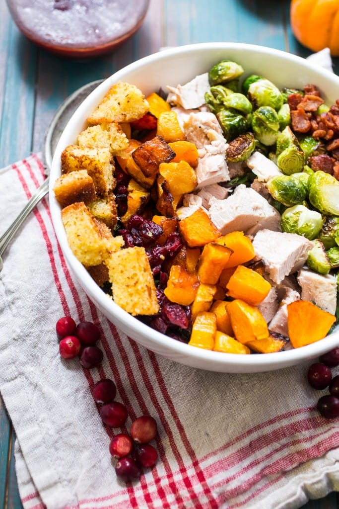 Thanksgiving leftovers recipes: Thanksgiving Cobb Salad at Girl in the Little Red Ktichen