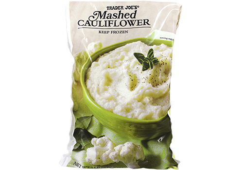 All the Trader Joe's products to grab for easier Thanksgiving cooking: Frozen Mashed Cauliflower | featured at Cool Mom Eats
