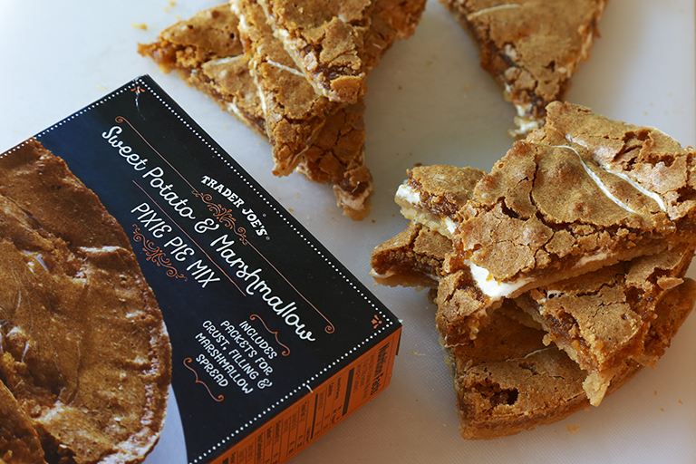 All the Trader Joe's products to grab for easier Thanksgiving cooking: Sweet Potato and Marshmallow Pixie Pie Mix | featured at Cool Mom Eats
