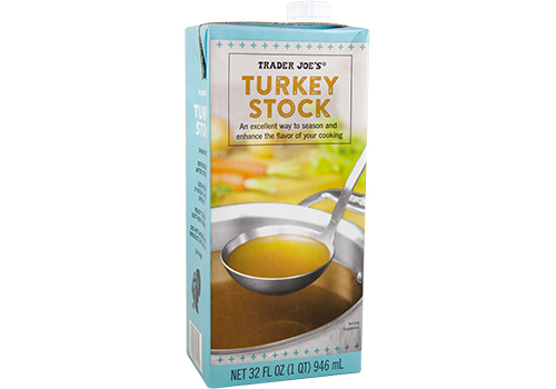 All the Trader Joe's products to grab for easier Thanksgiving cooking: Turkey Stock | featured at Cool Mom Eats
