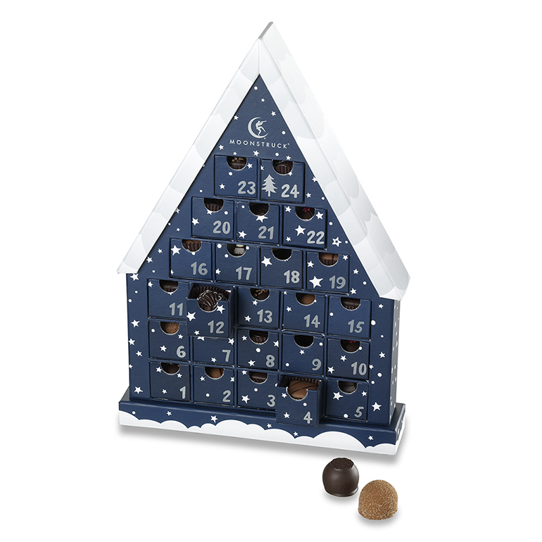 Food advent calendars: Truffle Advent Calendar | Moonstruck Chocolate Co.