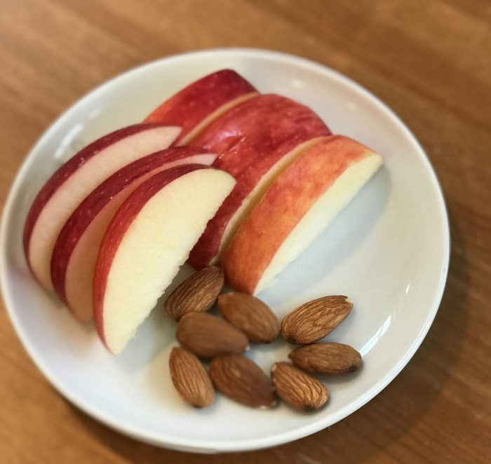 Five of the best post-workout foods   apple and almonds at Cool Mom Eats