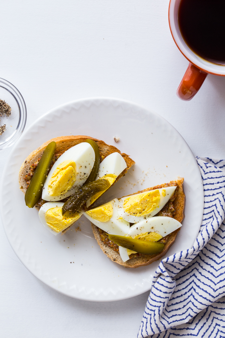 Best post-workout foods | Hard Boiled Egg Toast at Jelly Toast Blog