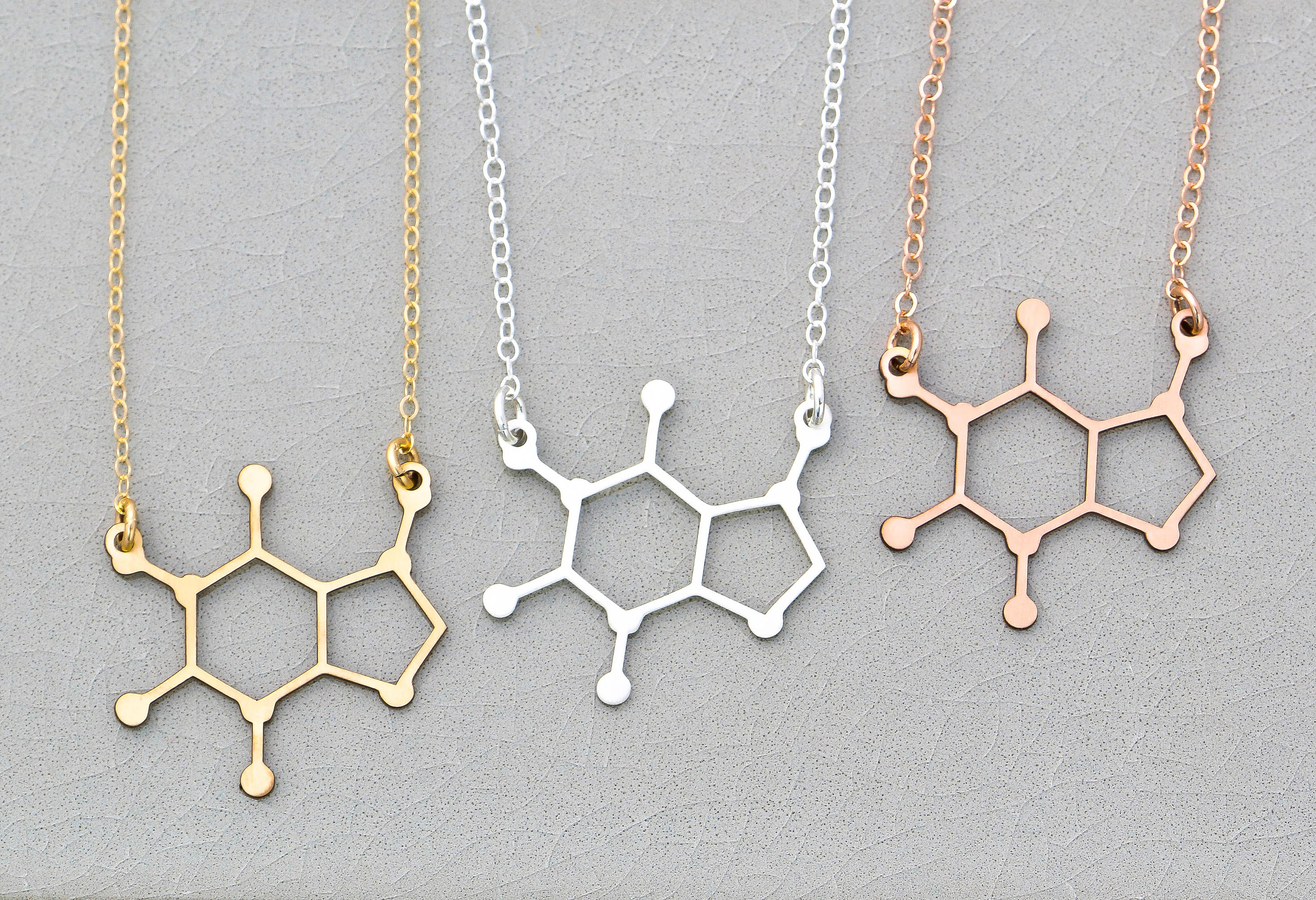 Coffee Molecule Necklace