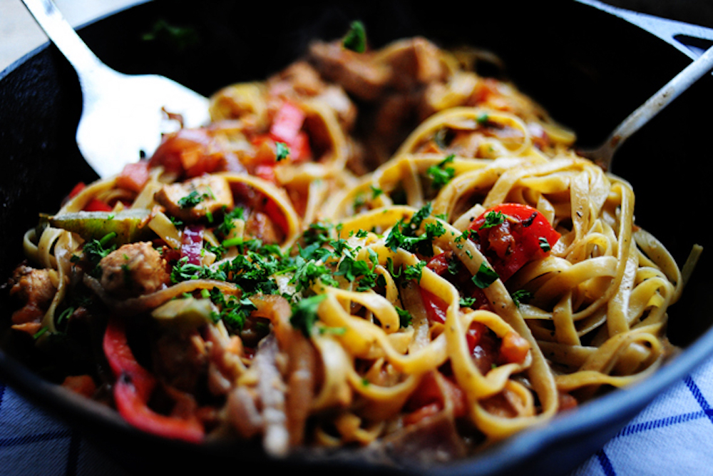 Cool Mom Eats weekly meal plan: Cajun chicken (or leftover turkey?!) Pasta at Pioneer Woman