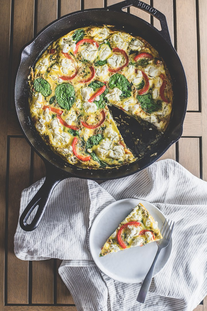 Cool Mom Eats weekly meal plan: Spinach and Goat Cheese Frittata   Mash & Spread