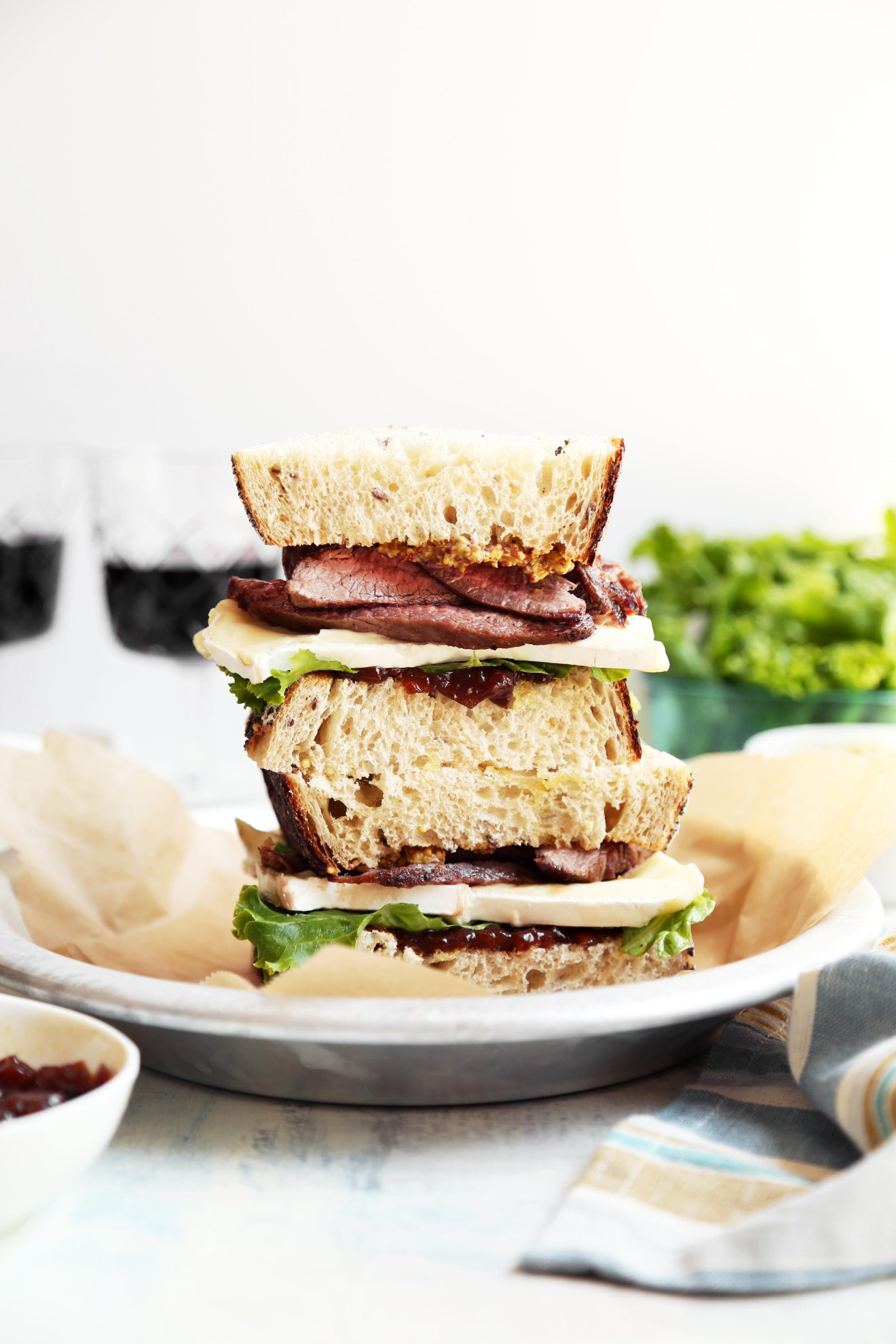 Cool Mom Eats weekly meal plan: Steak and Brie Sandwich at The Candid Appetite