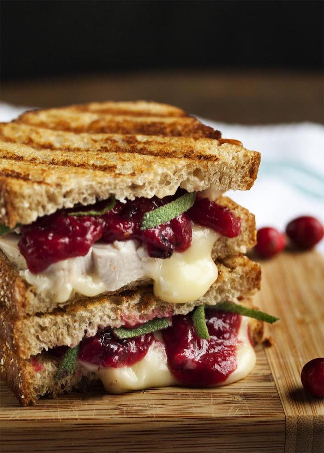Cool Mom Eats weekly meal plan: Turkey, Brie and Cranberry Panini at Just a Little Bit of Bacon