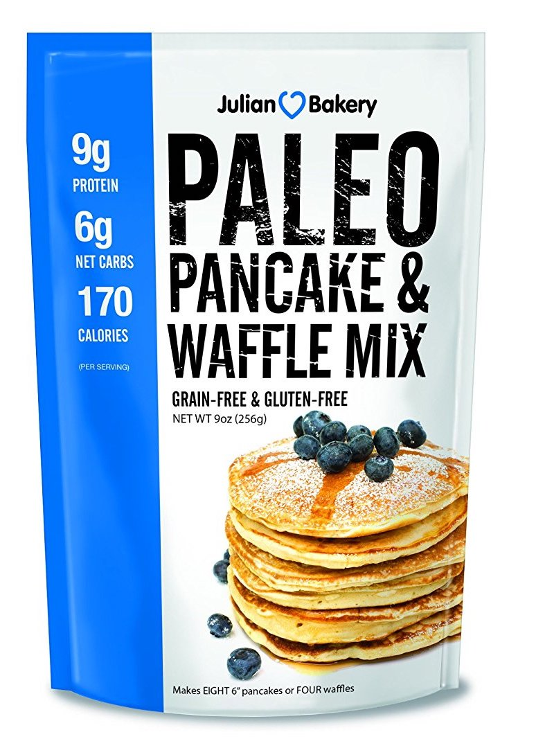 Essential Paleo pantry items: Julian Bakery Paleo Pancake and Waffle Mix | featured at Cool Mom Eats