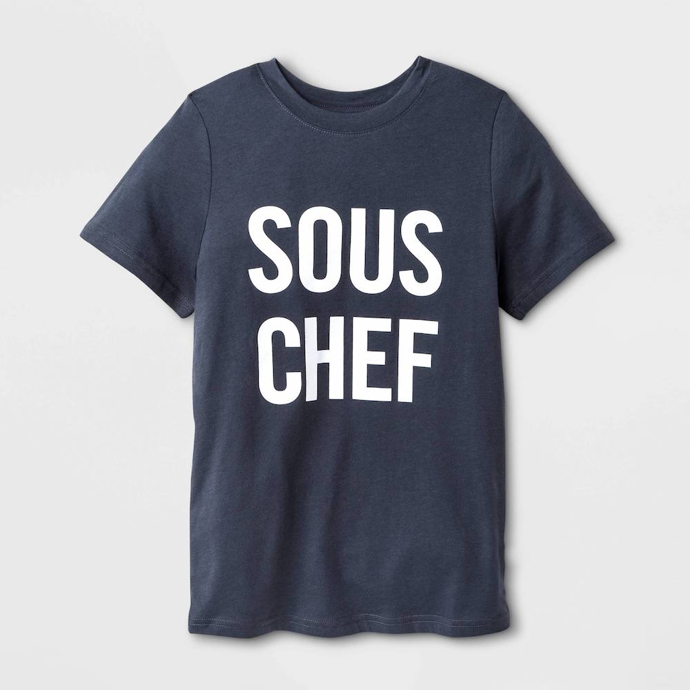 Gifts for kids who love to cook: Sous Chef tee at Target | Cool Mom Eats holiday gift guide 2017