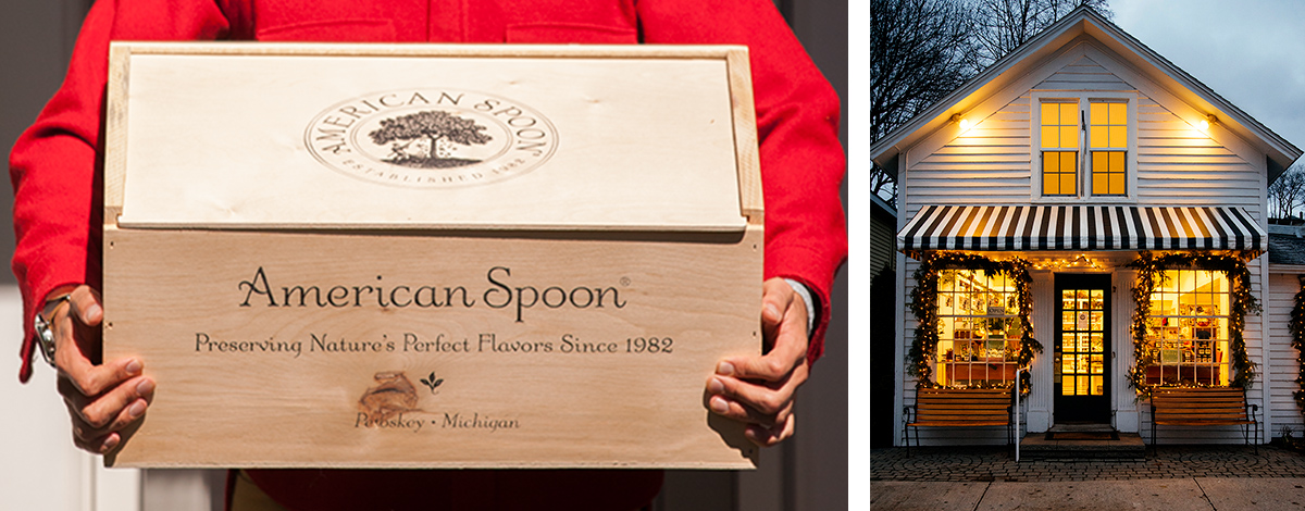 "Splurge gifts for foodies who like to cook and eat it all: The ""Buy the Store"" gift box at American Spoon 