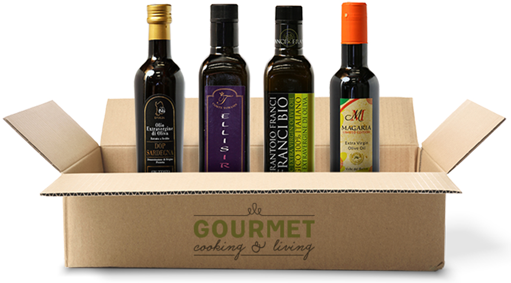 Splurge gifts for foodies who like to cook and eat it all: Award-winning, small batch Italian olive oil of the month club via Gourmet Cooking and Living | Cool Mom Eats holiday gift guide 2017