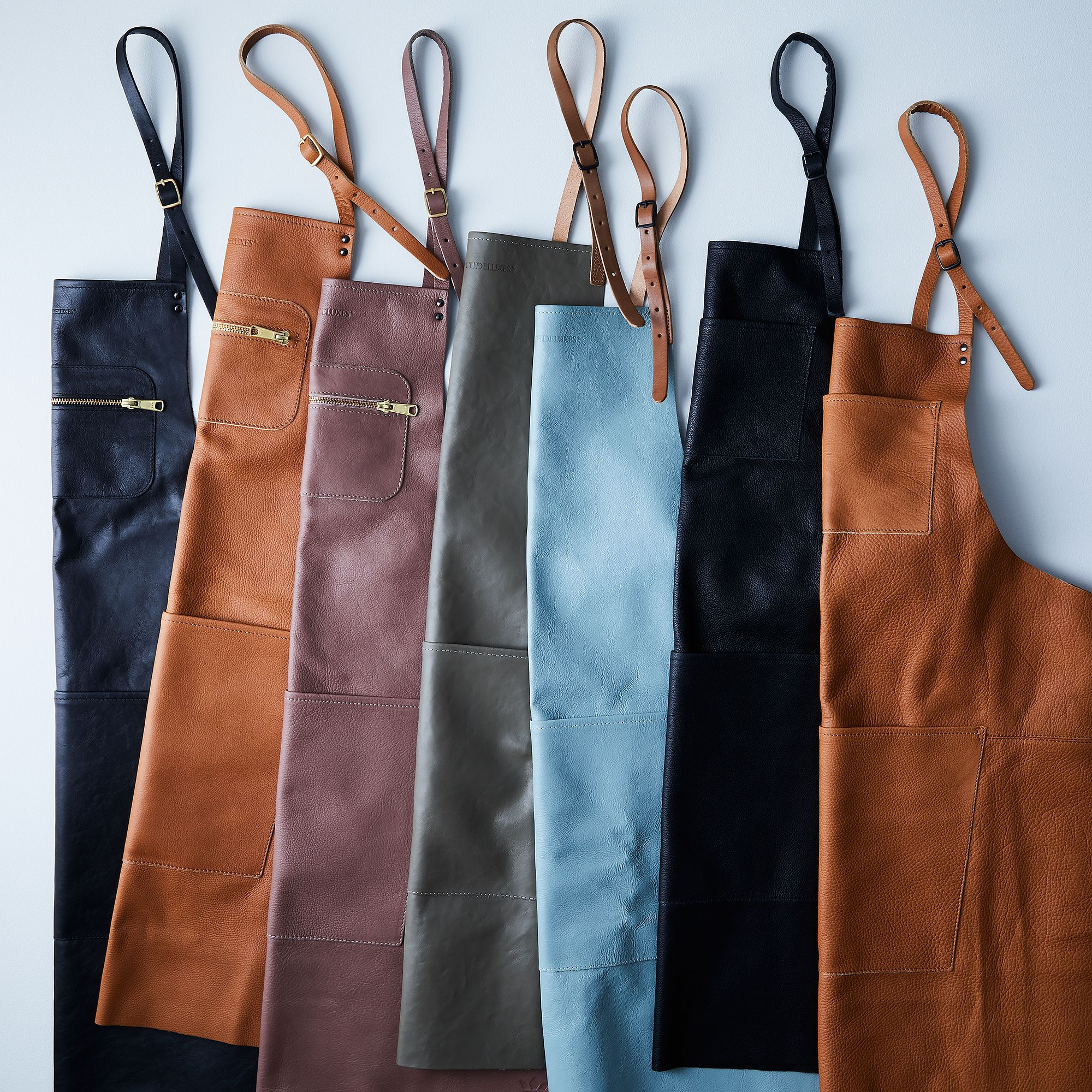 Splurge gifts for foodies who like to cook and eat it all: Dutch leather aprons at Food52 | Cool Mom Eats holiday gift guide 2017