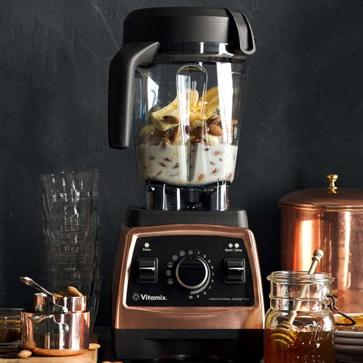 Splurge gifts for foodies who like to cook and eat it all: The Vitamix 750 Pro Heritage Blender in gorgeous copper | Cool Mom Eats holiday gift guide 2017