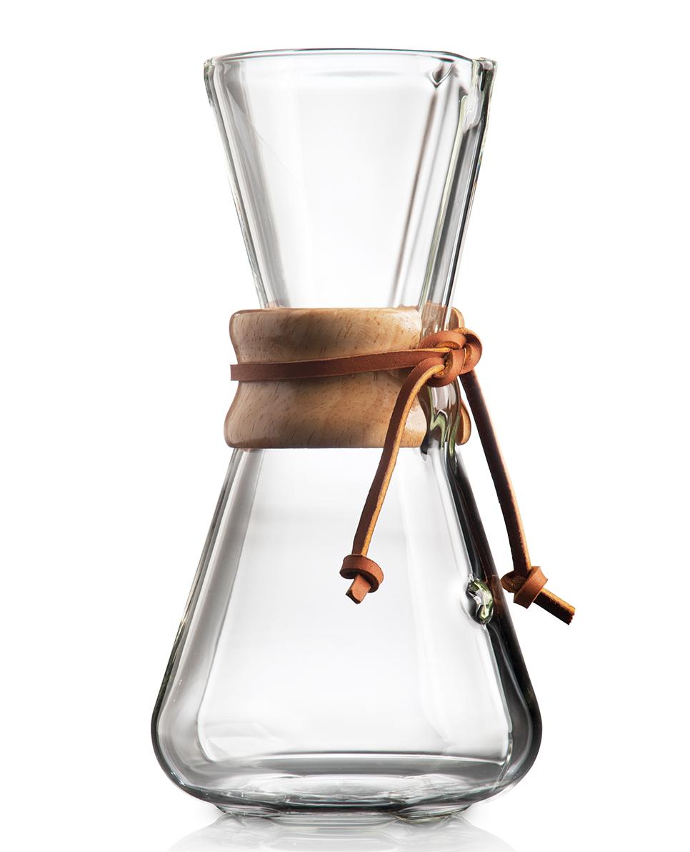 Three-cup Handblown Chemex