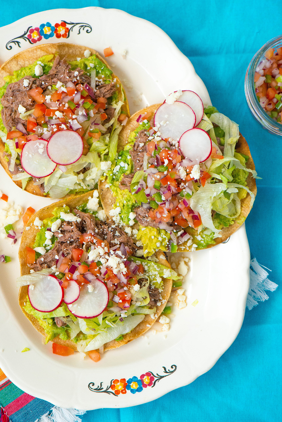 Food blogs for families that you should read in 2018 at Cool Mom Eats: Beef Tostadas at Nibbles and Feasts