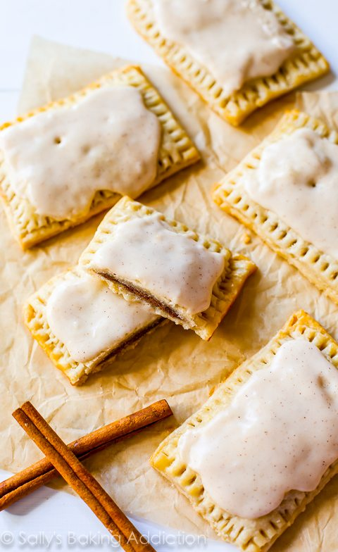 Make-ahead holiday breakfast recipes: Homemade Frosted Brown Sugar Pop Tarts   Sally's Baking Addiction