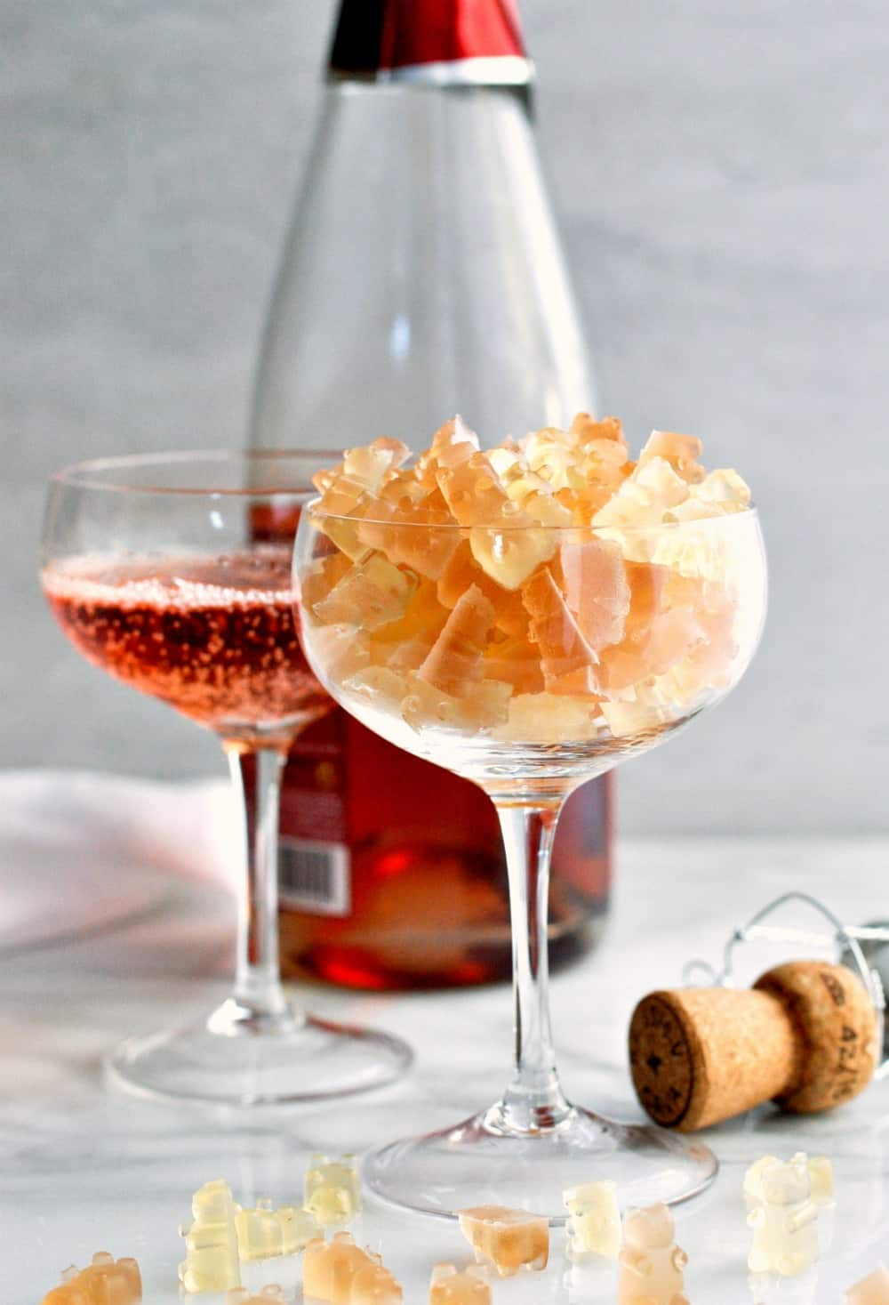 Champagne desserts for New Year's Eve: Champagne Gummy Bears | Pinch and Swirl