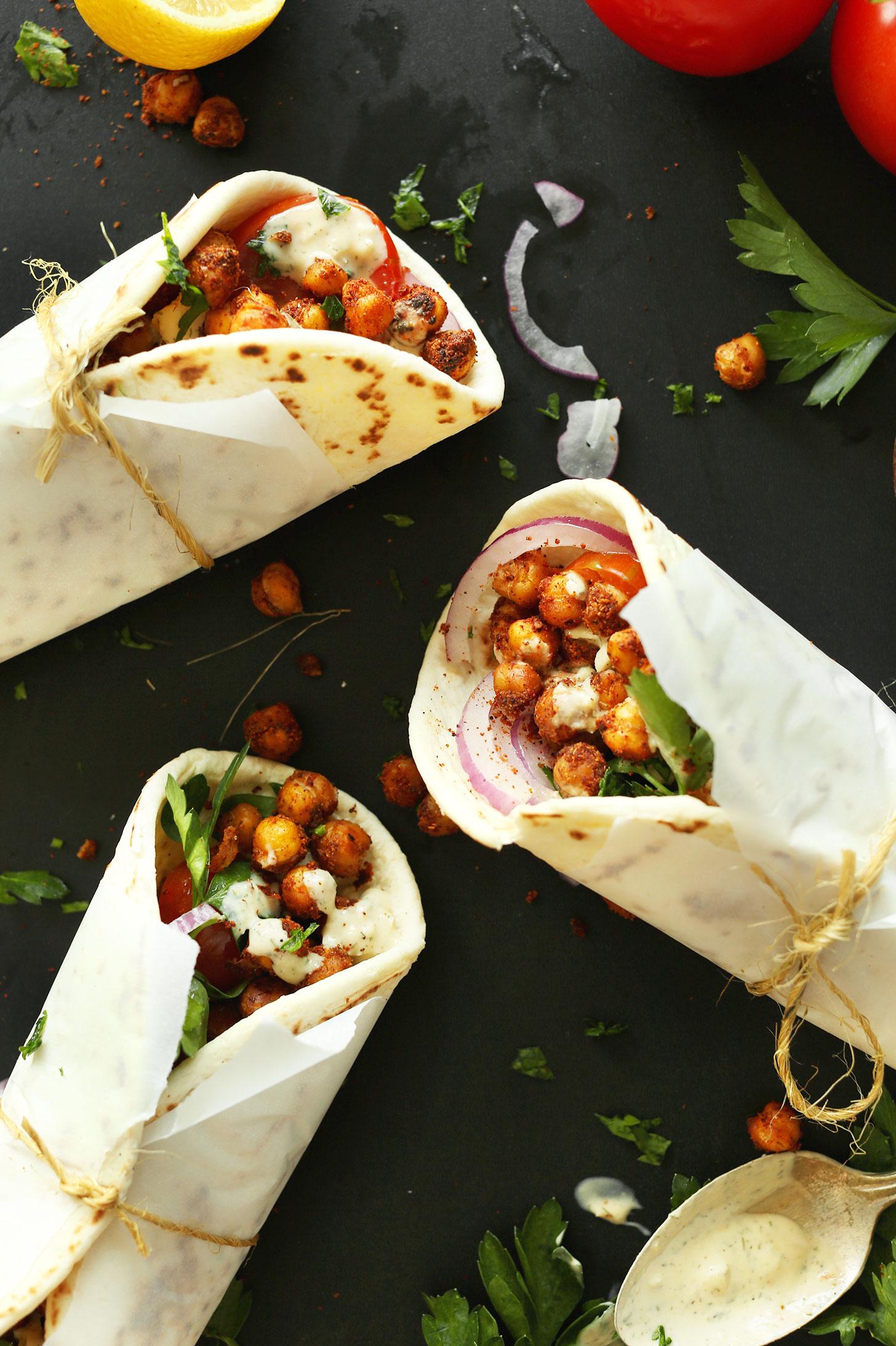 Cool Mom Eats weekly meal plan: Chickpea Shawarma at Minimalist Baker