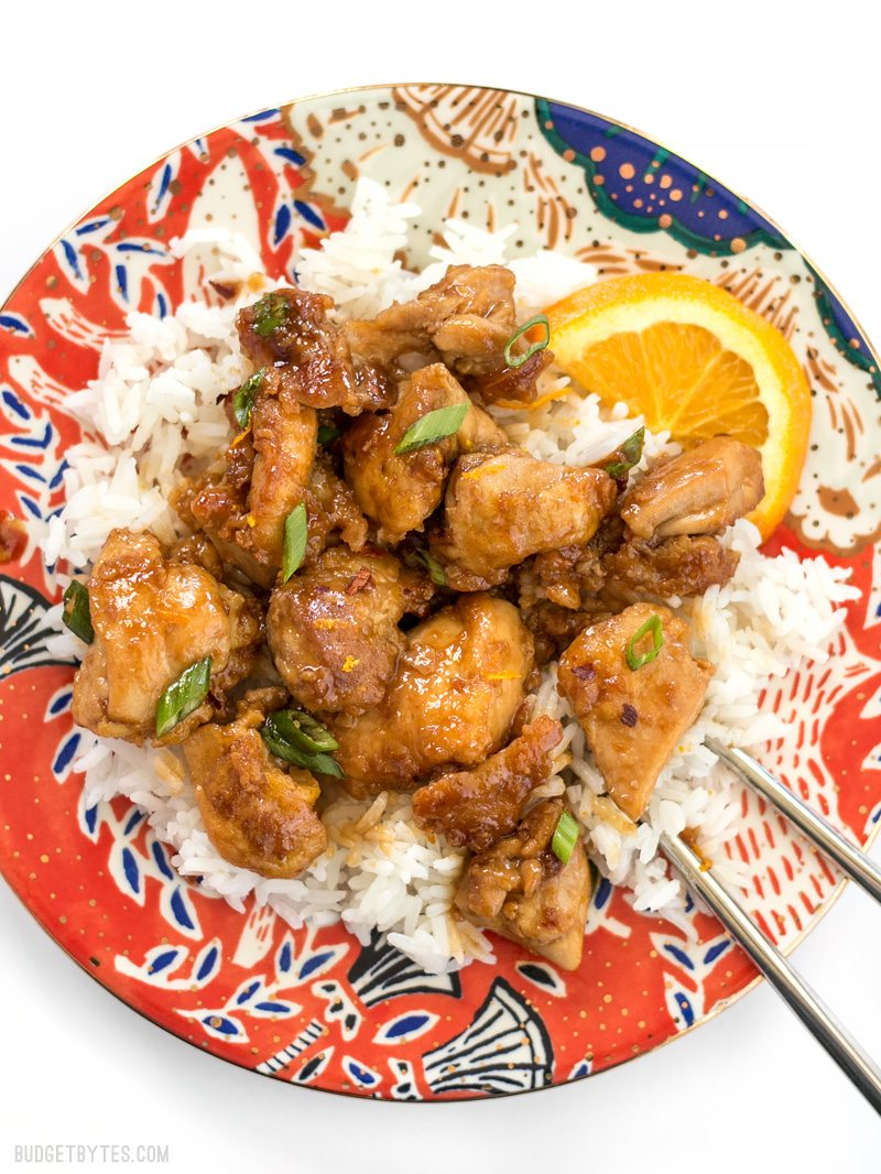 Cool Mom Eats weekly meal plan: Easy Orange Chicken at Budget Bytes