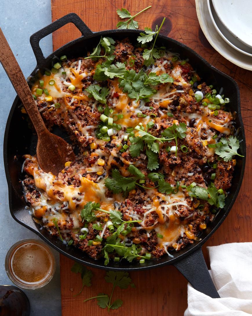 Cool Mom Eats weekly meal plan: Vegetarian Quinoa Bake at What's Gaby Cooking