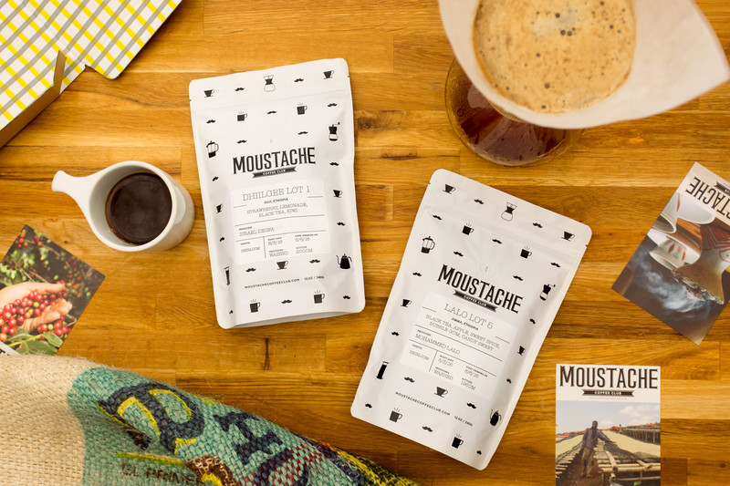 Best food subscription boxes for last-minute holiday gifts: Moustache Coffee Club for the coffee lover in your life | Cool Mom Eats holiday gift guide 2017