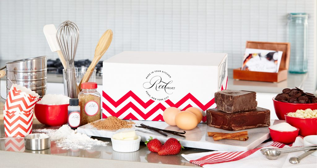 Best food subscription boxes, perfect for last-minute holiday gifting: Red Velvet NYC, monthly dessert kits that come with two recipes and everything you need to make two pro desserts every month | Cool Mom Eats holiday gift guide 2017