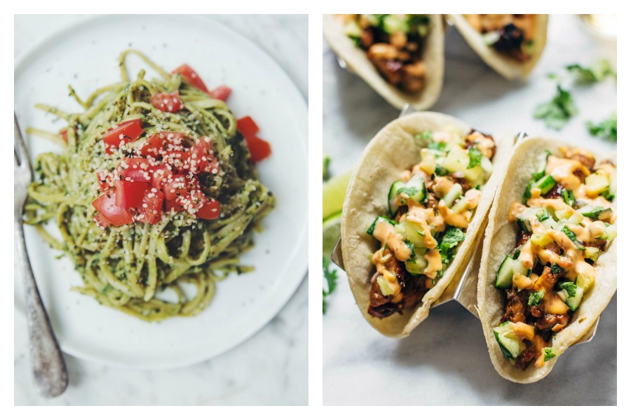 Next week's meal plan: 5 easy recipes for the week ahead, from an avocado pesto pasta to easy pork tacos with pineapple salsa.