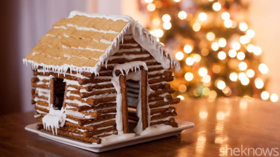 Delicious and easy holiday food crafts for kids: Edible log house at SheKnows