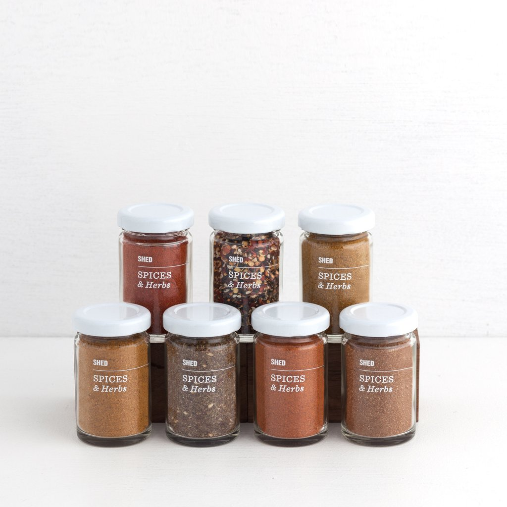 Gourmet stocking stuffers: A jar of unique spices from SHED | Cool Mom Eats holiday gift guide 2017
