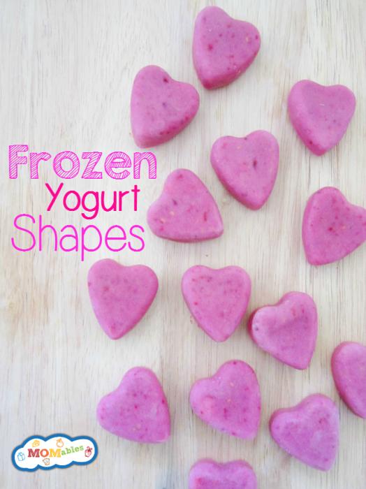 Healthy dessert recipes for kids:Frozen Yogurt Shapes | MOMables