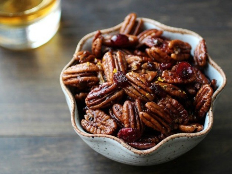 Our favorite homemade holiday food gifts: Bourbon Old Fashioned Glazed Pecans | Serious Eats