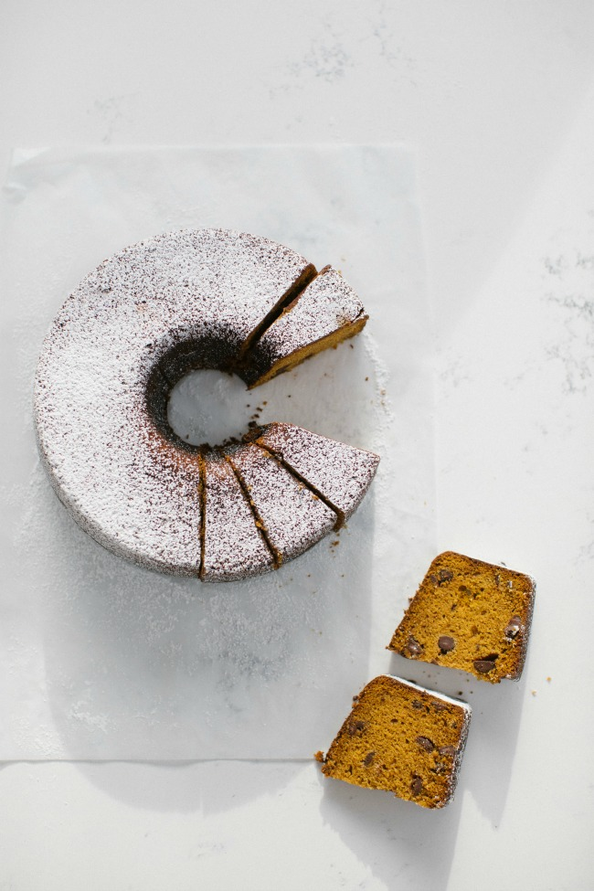 Our favorite homemade holiday food gifts: Pumpkin Chocolate Poundcake | Sara Kieffer
