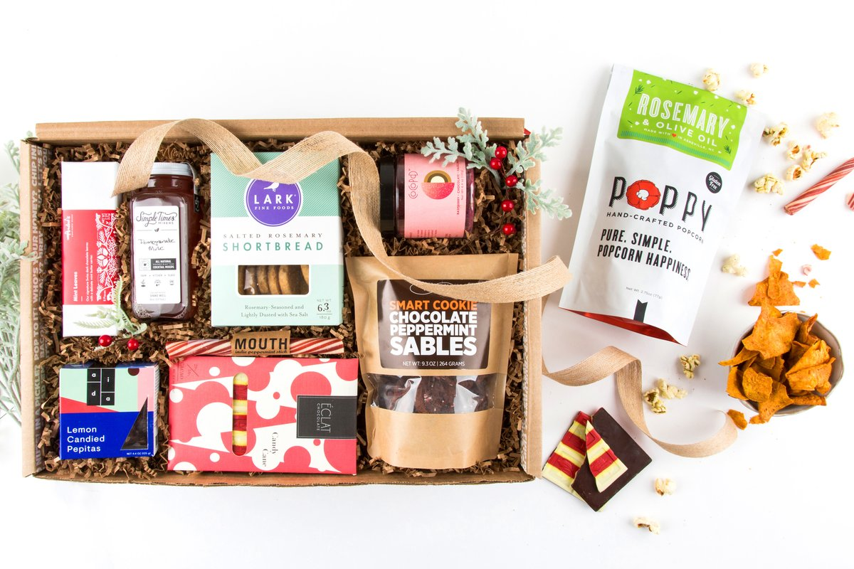 the Mouth Holiday Sweet and Savory gift box is a favorite, and they offer lots of food gift subscriptions too