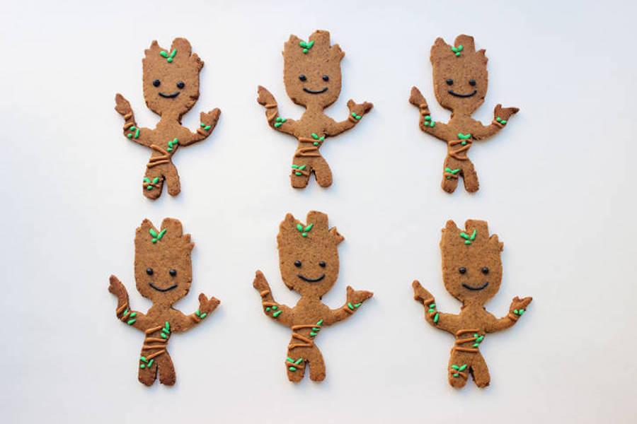 Pop-culture gingerbread cookies: Groot at Disney Family