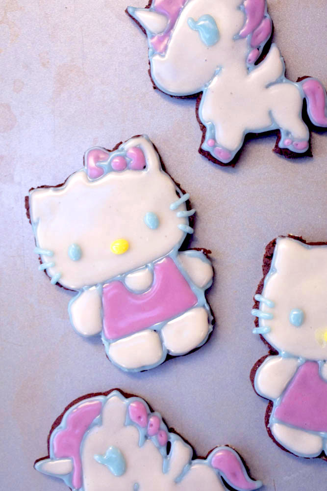 Pop-culture gingerbread cookies: Hello Kitty at Vegan Dollhouse