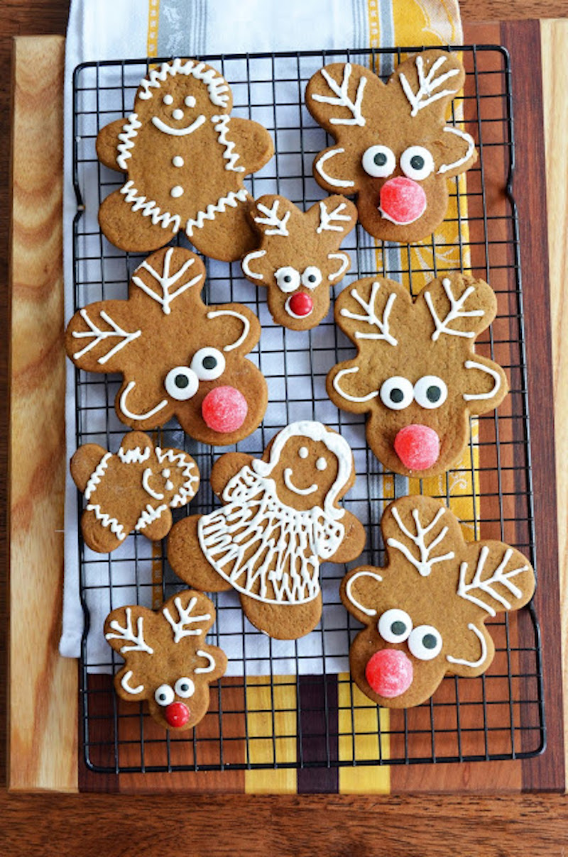 Pop-culture gingerbread cookies: Rudolph at A Beautiful Mess