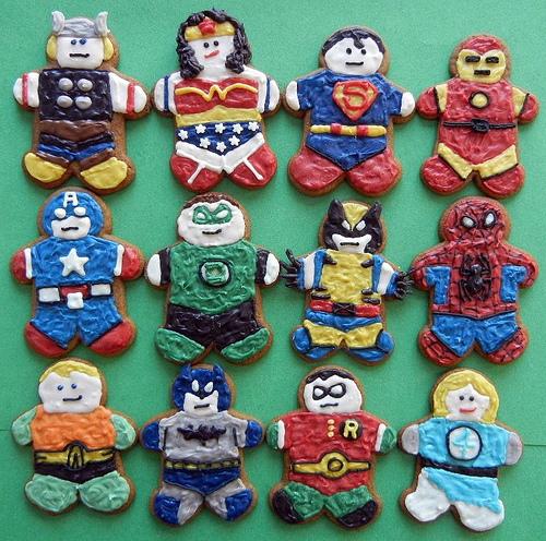 Pop-culture gingerbread cookies: Superheroes at Sugar Swings