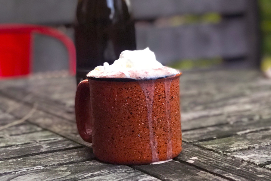 Red wine hot chocolate: The drink Santa (and all the rest of us) need right now.