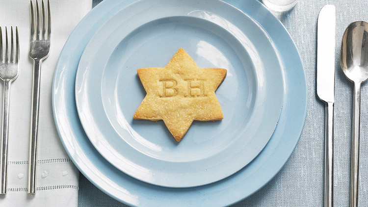 Hanukkah cookie recipes | Monogrammed shortbread Hanukkah Cookies at Martha Stewart
