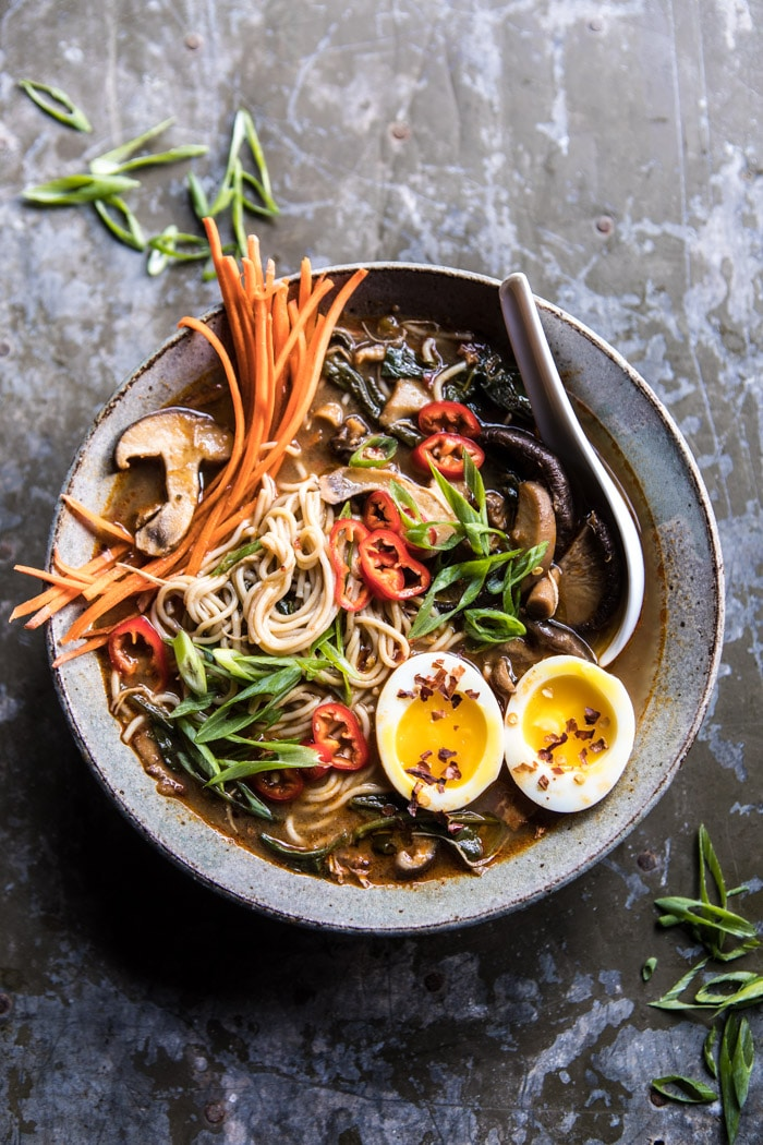 Cool Mom Eats weekly meal plan: Instant Pot Chicken and Spinach Ramen at Half Baked Harvest