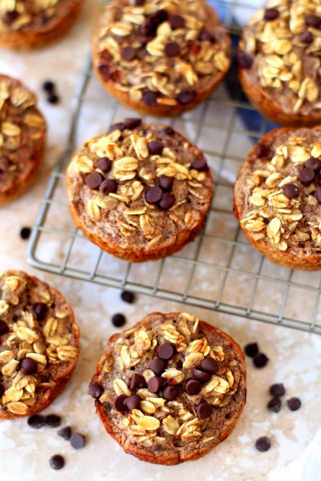 Snack recipes that help you sleep better: Baked Banana Oatmeal Cups | Kim's Cravings
