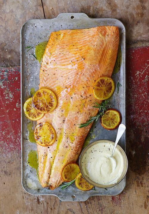 Cool Mom Eats weekly meal plan: Roast Salmon with Citrus Ginger Aioli at Two Sisters and a Meal